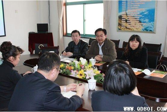 青岛市中小企业局融资指导处副处长王世果到青岛国际商品交易所有限